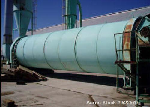 "USED: MEC triple pass rotary dryer, 10'0"" diameter x 40'0"" long.Includes feeder system; 35 ml cfm fan system with cyclone; 2..."