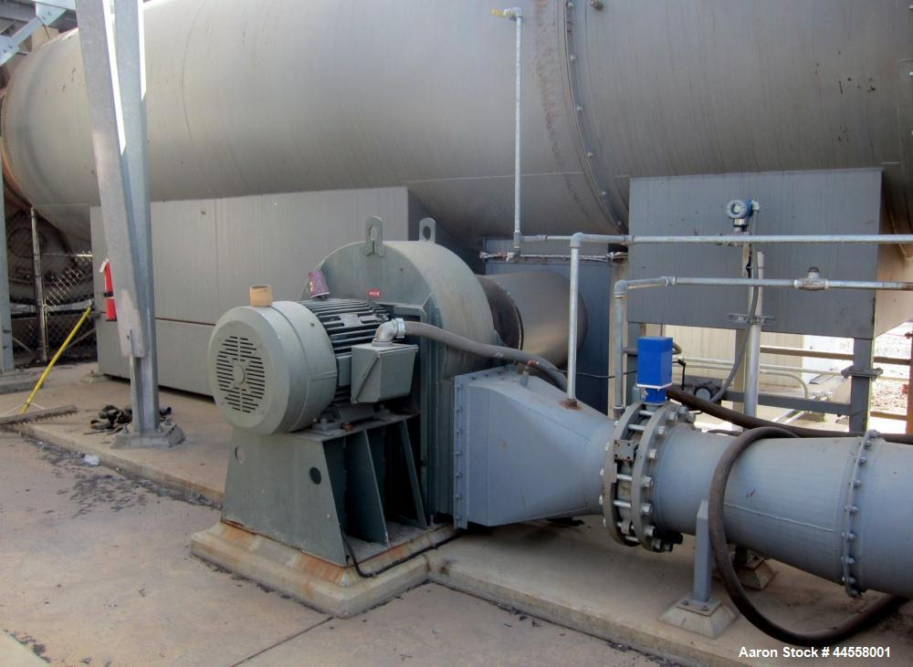 "Used-Baker Rullman BioSolids Dryer, Model SD125-48, (3) Triple Pass design.  Insulated Drum is 13'- 1/2"" diameter X 44' - 3/..."