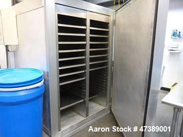 Used- Drying Cabinet, 6 high x 4 wide x 4.5 deep. All interior materials are stainless steel including the trays. Capacity: ...