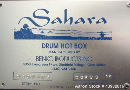 Used- Stainless Steel Benko Products Drum Hot Box, Model C6ECB-1S