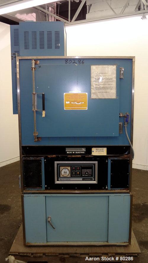 """Used- Blue M Oven, Model DC-256A-FHP-1. Maximum temperature range to 316 degrees C (600 degrees F). Chamber measures 20"""" dee..."""