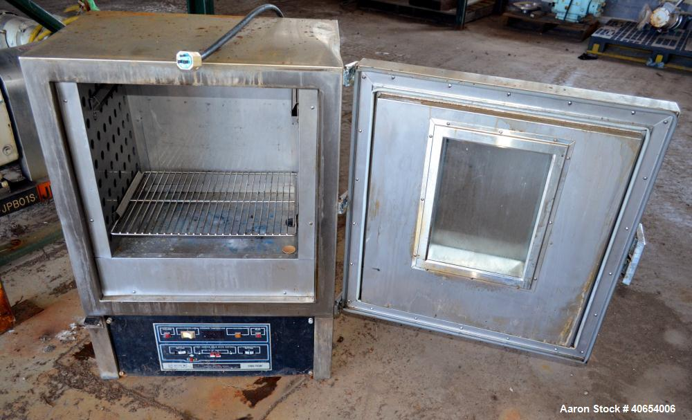 "Used- Blue M Utility Oven, model OV-510A-3 GOP. 304 Stainless steel chamber 19"" wide x 18"" high x 15"" deep. Temperature rang..."