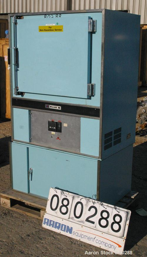 "USED- Blue M Oven, Model POM-256B-1. Temperature range to 343 Degrees C (650 Degrees F). Chamber measures 20"" deep x 25"" wid..."