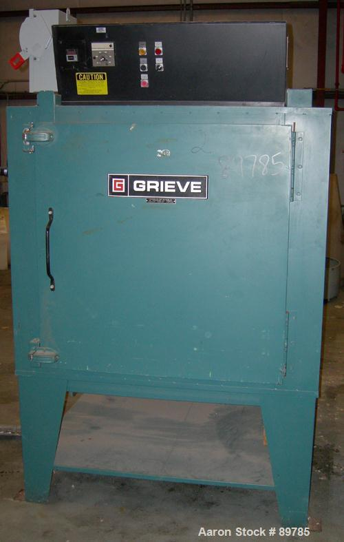USED: Grieve electric oven, model AG-500. 12 kw, max temp 500 deg F. 460V, 17 amps, 3/60, 1/2 hp motor. Chamber is carbon st...