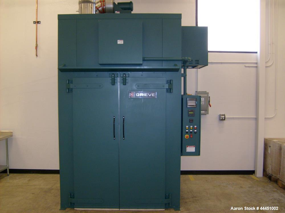 "Used- Grieve Walk In Oven, Model WTH446-500. Built 2011. Max temp 500 deg f. Work space dimensions: 48"" wide x 48"" deep x 72..."