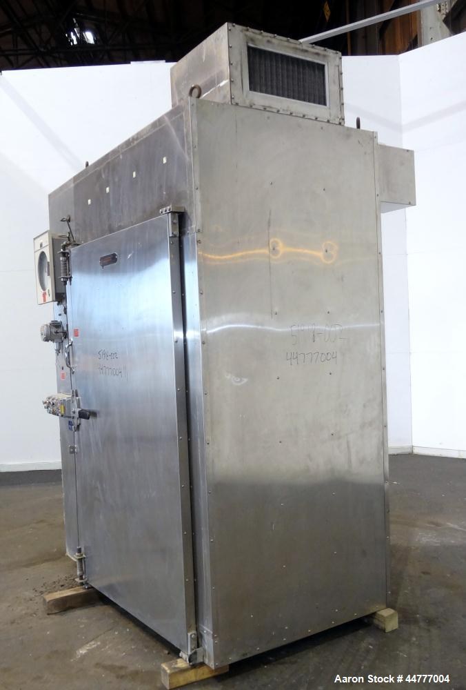 Used- Stainless Steel Gruenberg Steam Heated Truck-In Oven, Model T08HXS68.ISSID
