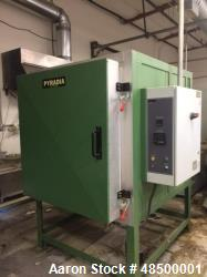 Used- Pyradia Oven, Model IF363635, Heavy Duty 2,300 deg F. Programmable temperature controller (Omron E5AK-T, 8p/16s)