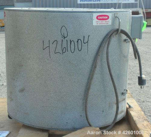 "Used- Ohmtemp 55 Gallon Drum Heater, model SWL-55-2301, carbon steel. Wrap-around design. Approximate 24"" diameter x 30"" dee..."