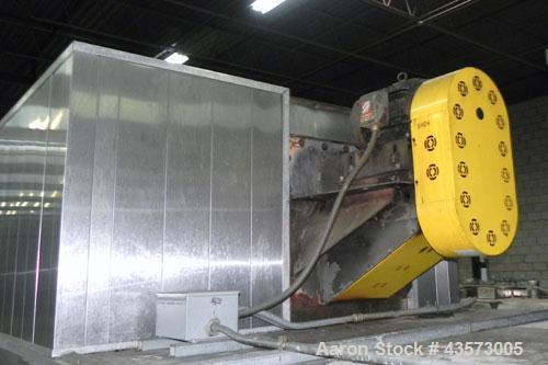 """Used- Babbco Indirect Gas Fired Tunnel Oven. C.H. Babb Co Inc oven has a 48""""W metal ban coinveyor chain. Chamber measures 20..."""