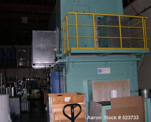USED: Industrial media curing oven, manufactured in 2002 by OMTSurface Technologies, Germany. Total steam area 66 CBM; exhau...
