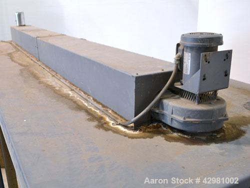 Used- Benko Products Sahara Electric Drum Heater, Model 036E12-CS, Carbon Steel. Interior 172'' wide x 55'' deep x 48'' tall...
