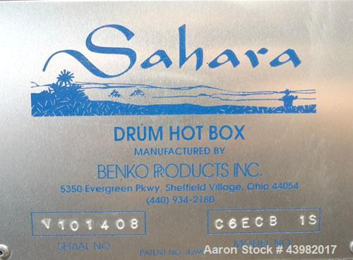 Used- Benko Products Drum Hot Box, Model C6ECB-1S. 304 Stainless steel interior. Chamber dimensions with the doors closed is...
