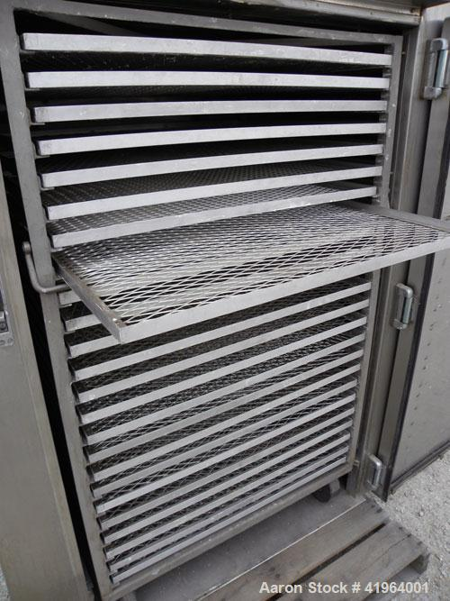 Used- Stokes Drying Cabinet, Model 38-7, 304 stainless steel. Opening 40 wide x 63 tall x 30 deep. Includes a stainless stee...
