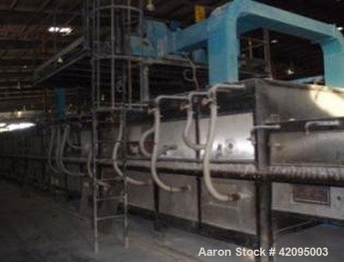Used-Vaccari Kiln. Installed capacity is 37,674 square feet (3,500 square m) per day, max temperature is approximately 2246 ...