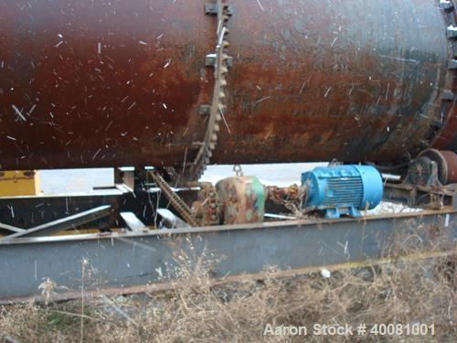 Unused-Used Portable Aggregate Dryer. 8' diameter X 36' long, Carbon steel construction. Dryer was rebuilt in 2005, Fully Fl...