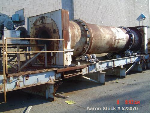 """USED: Rotary dryer, approximately 4'6"""" x 40' long, natural gas direct fire. (Assuming refractory lined), insulated shell, sk..."""