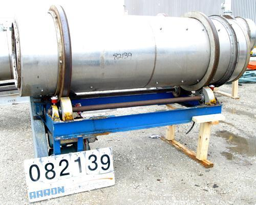 """USED: Conditioning cylinder, 304 stainless steel. 30"""" diameter x 8' long tube with internal pins. Requires feed chute, inclu..."""