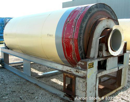 """Used- Rotary Air Dryer, 304 Stainless Steel. Horizontal insulated tube 60"""" diameter x 156"""" long, end feed and discharge. 5"""" ..."""