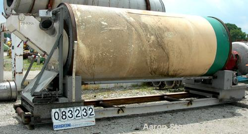"""USED: Rotary air dryer, 304 stainless steel. Horizontal insulated tube 60"""" diameter x 156"""" long, end feed and discharge. 5"""" ..."""