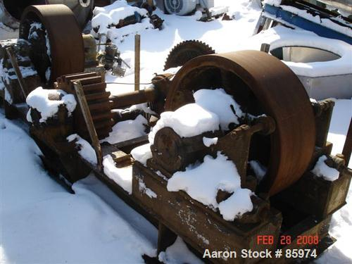 """USED: (1) Set of trunnions for an approx 12' diameter x 45' longrotary dryer. Trunnion rolls 30"""" diameter x 11"""" face. Includ..."""