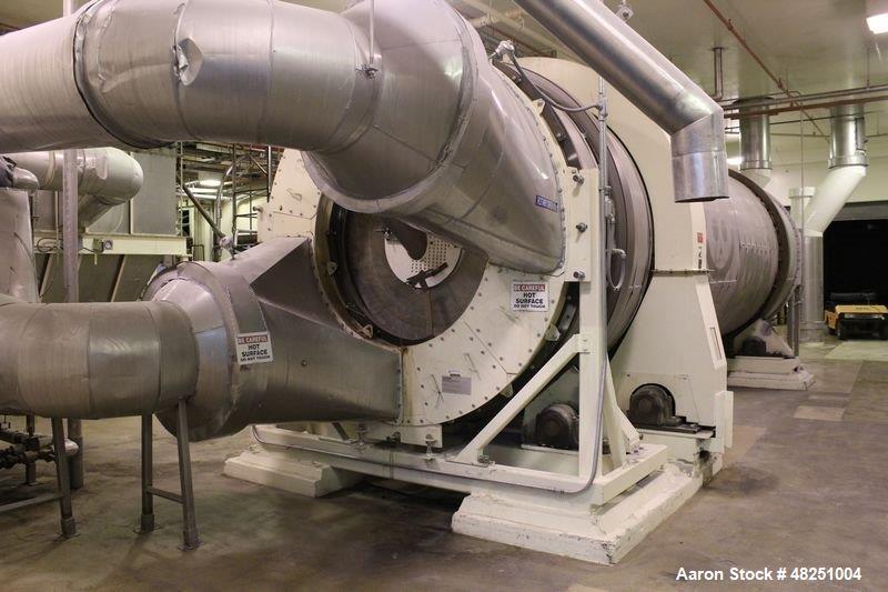 Used- FMC Link-Belt Roto-Louvre Spiral Roaster, Carbon Steel.
