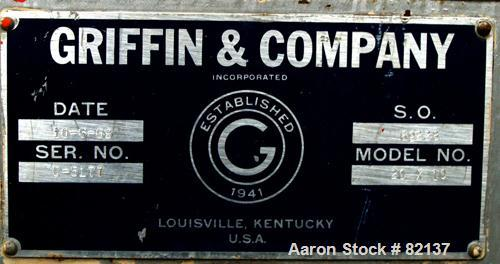 """USED: Griffin and Company Conditioning Cylinder, 304 stainless steel. 20"""" diameter x 10' long tube with 4"""" wide x 1/8"""" thick..."""