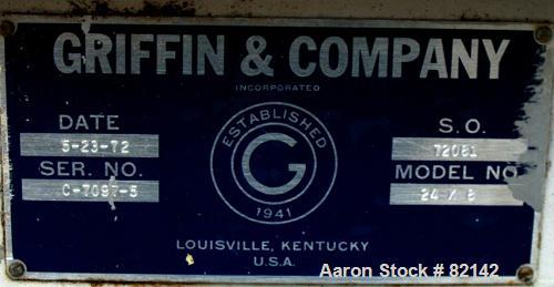 """USED: Griffin and Co Conditioning Cylinder, 304 stainless steel. 24"""" diameter x 8' long tube with internal pins. Requires fe..."""