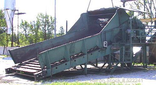 """USED: Heil model 85-24, 8'5"""" diameter x 24'5"""" long, single pass,rotary drum dryer system with new 15 million btu oil/natural..."""