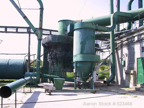 "USED: Heil model 85-24, 8'5"" diameter x 24'5"" long, single pass,rotary drum dryer system with new 15 million btu oil/natural..."
