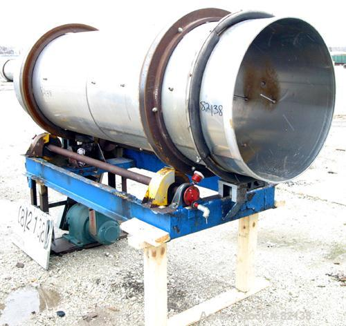 "USED: Conditioning Cylinder, 304 stainless steel. 30"" diameter x 8' long tube with internal pins. Requires feed chute, inclu..."