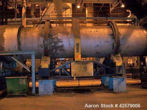 "Used- Didion Rotary Dryer, Model RD72-30, 72"" diameter x 30' long.   with North American Zephyr Burner, s/n  4384-1240,  Nat..."