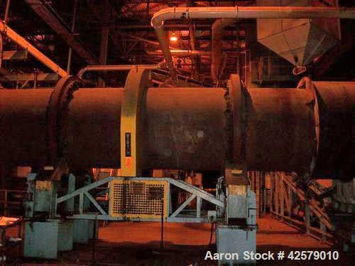 "Used- Didion Rotary Dryer, Model RD72-30, 72"" diameter x 30' long.   with North American Zephyr Burner, s/n  N/A,   Natural ..."
