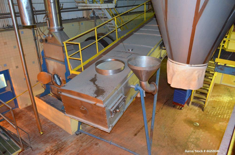 Used- Rogers Food Processing Equipment Rotary Hot Air Dryer, Stainless Steel