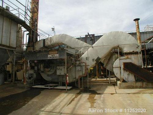 Used-Roto Louvre Dryer, 10' diameter x 36' long, indirect gas fired, Hauck natural gas burner, rated 25mm btu/hour, max oper...
