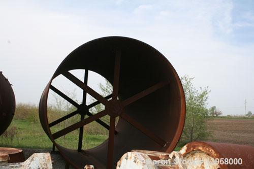 Used-Rotary Kiln Shell, 12' diameter, in 4 pieces: 20', 30', 36' and 24' for a total length of 110'. Includes various kiln p...
