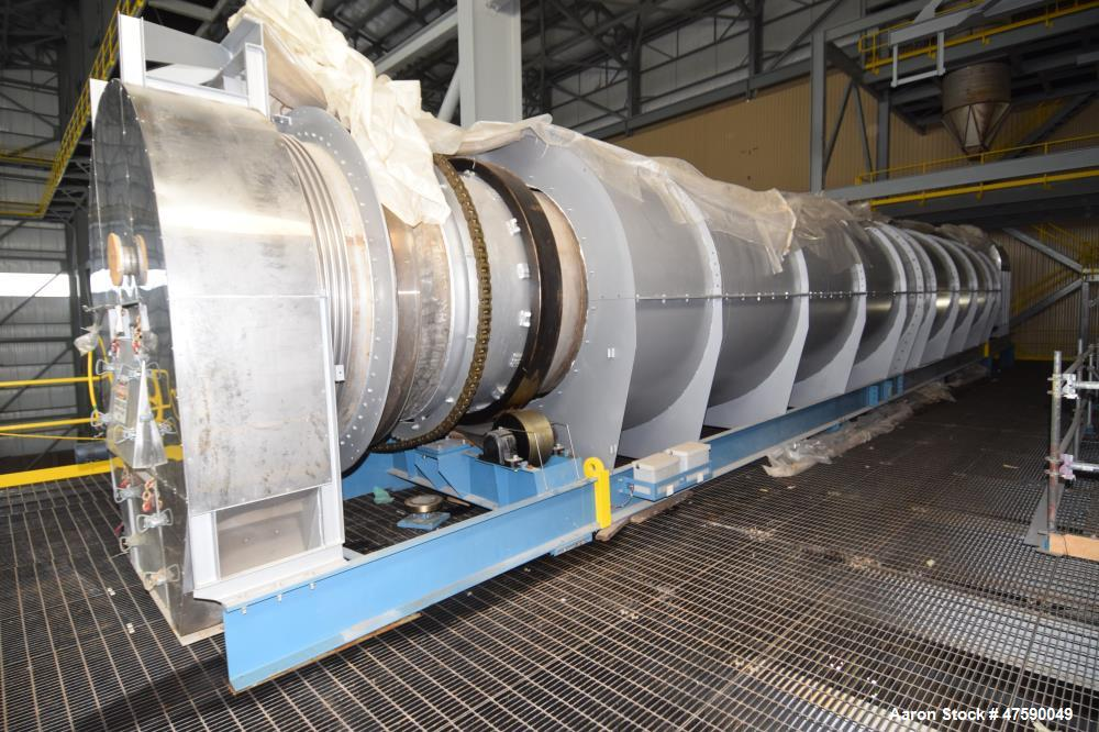 "Unused- Lochhead-Haggerty Gas Fired Calcining Rotary Kiln, 316L Stainless Steel. Tube approximate 72"" diameter x 720"" long w..."