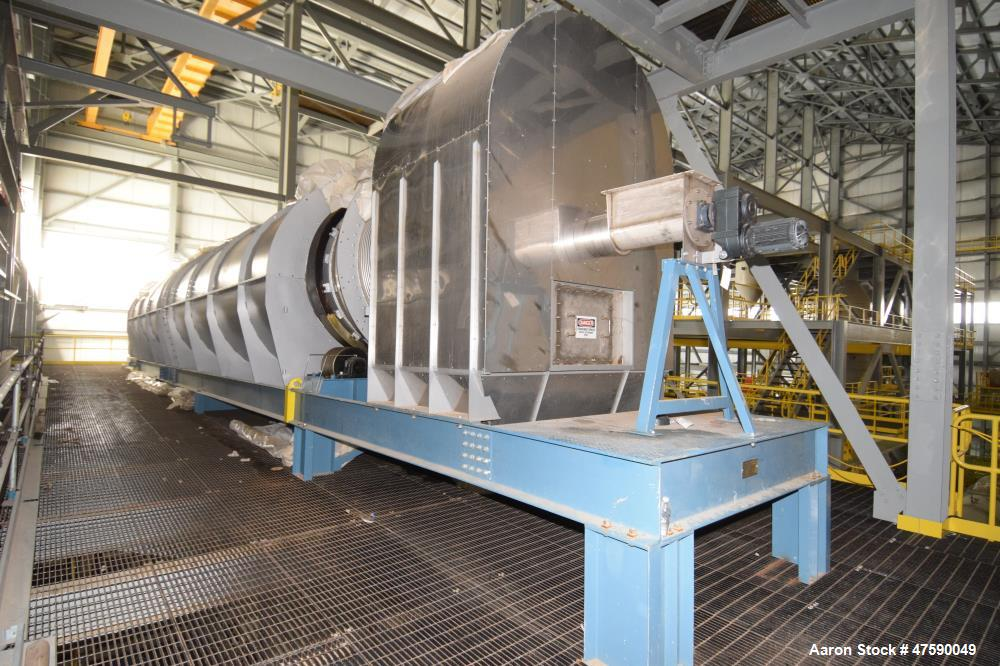 """Unused- Lochhead-Haggerty Gas Fired Calcining Rotary Kiln, 316L Stainless Steel. Tube approximate 72"""" diameter x 720"""" long w..."""