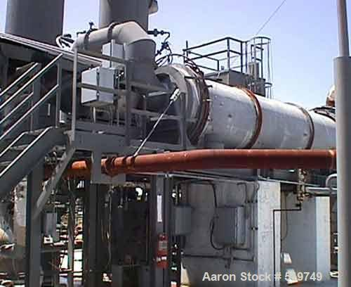 "USED: Rotary kiln, 4'6"" diameter x 20' long, carbon steel. Uses include solid waste incineration or thermal ozidizer. Suitab..."