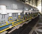 Unused- Lochhead-Haggerty Gas Fired Calcining Rotary Kiln, 316L Stainless Steel. Tube approximate 72
