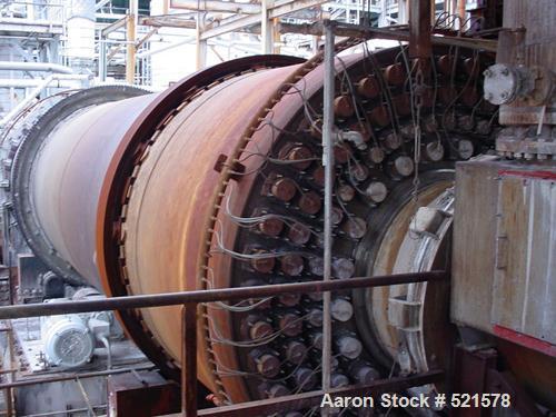 "USED: Davenport rotary steam tube dryer, 9'6"" diameter x 40' long.Shell 316L stainless steel, internal 317L stainless steel...."