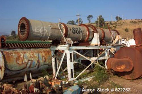 """USED: Davenport rotary steam tube dryer, 30"""" diameter x 22' long. Dryer has stainless steel contact parts. Dryer has two row..."""