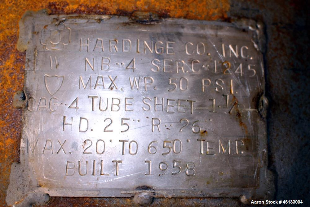 """Used- Hardinge Ruggles-Coles Pilot Plant Steam Tube Dryer. 304 Stainless steel 24"""" diameter x 128"""" long shell, insulated, ch..."""