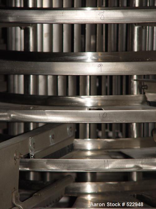 USED: Wyssmont stainless steel turbo dryer, model L-18. Dryer has 18circular stainless steel drying shelves. All dryer inter...