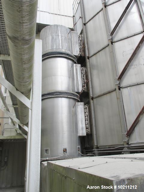 Used- Wyssmont Turbo Dryer, Model YER – Model V37. (37) Trays, 30' diameter. 304 Stainless steel product contact surfaces an...