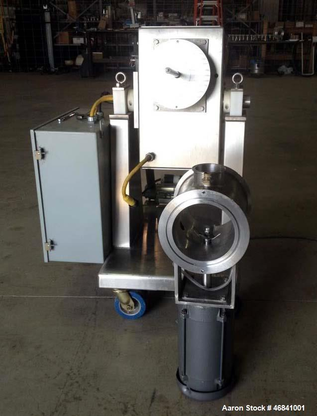 Used- Processall Tilt-A-Mix Lab Size Rotary Vacuum Dryer, Model 4 HV. 2 Liter working capacity, 316 Stainlee Steel.
