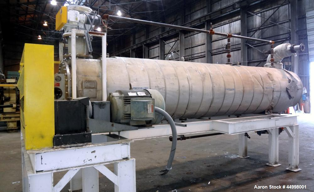 """Used- Hosokawa Bepex Continuous Solidaire Dryer, Model SJS30-16, 316 Stainless Steel. 30"""" Diameter x 16"""" long horizontal cha..."""