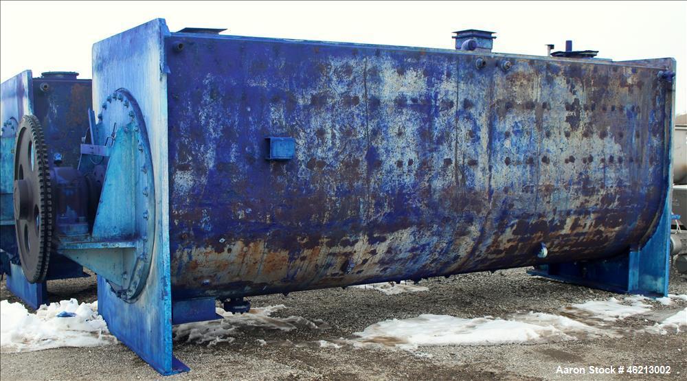 """Used- Bethlehem Corporation """"T"""" Paddle Blender, Approximately 500 Cubic Feet,"""