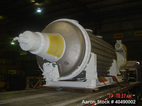 Used-Buss rotary vacuum dryer, type S6300. Material of construction is 316 stainless steel on product contact parts. 304 sta...