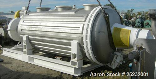 Used- Buss Rotary Vacuum Dryer, Type S6300. 316 Stainless Steel Product Contact Area. 304 stainless channel jacket. 293 cubi...