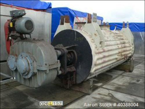 Used- Buss Rotary Vacuum Dryer, type SF6300. Material of construction is 316 stainless steel on product contact parts. Stain...